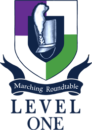 Marching Roundtable Judges Academy Level 1 Shield Logo