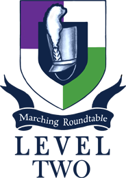 Marching Roundtable Judges Academy Level 2 Shield Logo